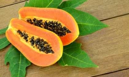 Baja tallas con las semillas de papaya