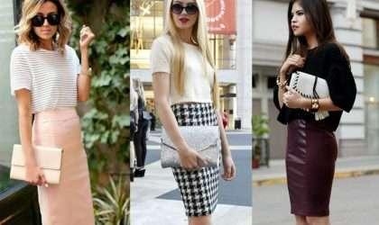 ¿Como combinar una falda lápiz?
