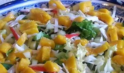 Ensalada de jicama y mango para aliviar el resfriado