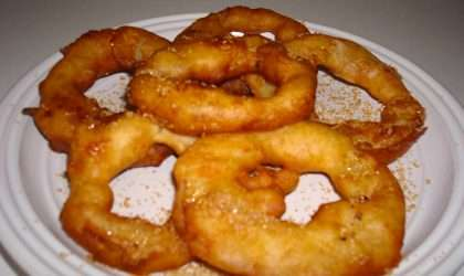 snack para una tarde fría, aritos de manzana