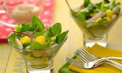 Receta saludable: Ensalada de surimi con mango