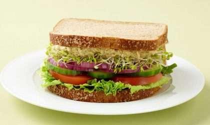 Sándwich vegetariano para preparar en 15 minutos