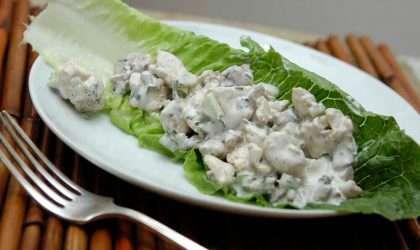 Ensalada baja en calorías cremosa de pollo