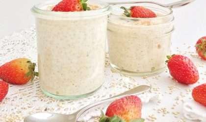 Postre de leche con quinoa, saludable!