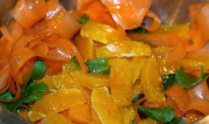 Ensalada de zanahoria y patatas baja en calorías