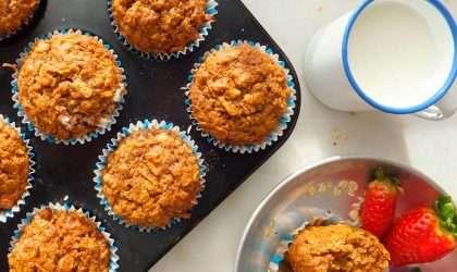 Muffins de zanahoria y naranja. Receta especial!