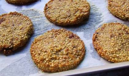 Galletas de Quinoa, almendras y arándanos