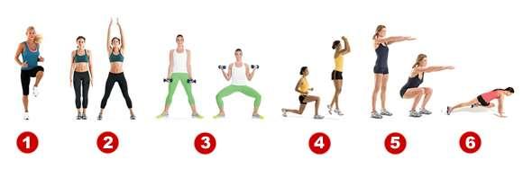 Como bajar de peso en casa con ejercicios de calentamiento