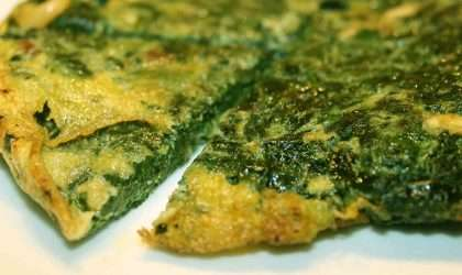 Tortilla verde de espinacas