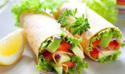 Saludables burritos de verduras