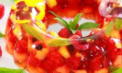 Snack ligero: Gelatina de frutas