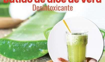 Batido desintoxicante de alóe de vera y té verde