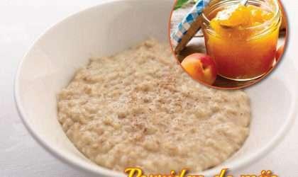 Desayuno: Porridge de mijo con pure de melocotón