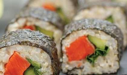 Sushi vegetariano una alternativa diferente para almorzar