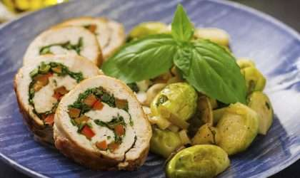 Rollos de pollo con verduras
