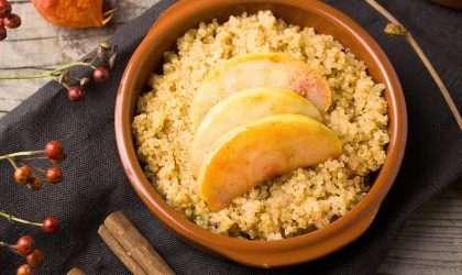 Quinoa con leche de coco  y mango