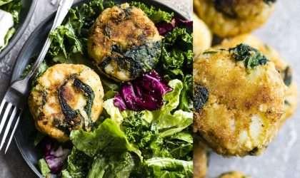 ¡Sabor para tus almuerzos! Tortas veganas de patatas