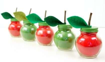 DIY: Velas con aroma de manzana