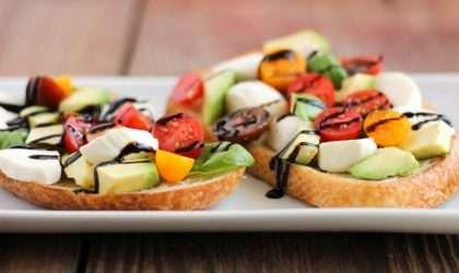 Tostada de verduras para desayunar