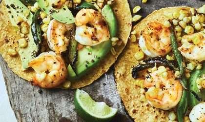 Tacos de camarones de Oaxaca
