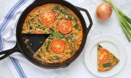 Para desayunar: Frittata de vegetales