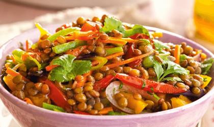 Ensalada de lentejas ¡Proteína para tu almuerzo!