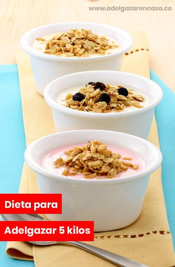 Dietas saludables para adelgazar 5 kilos