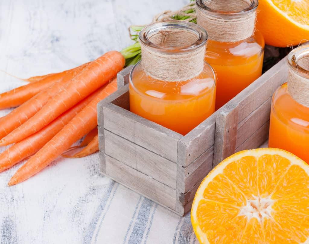 Jugo de zanahoria y pepino
